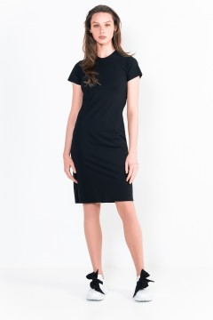 L8 Bis Short Dress Crew Neck, Short Sleeves.