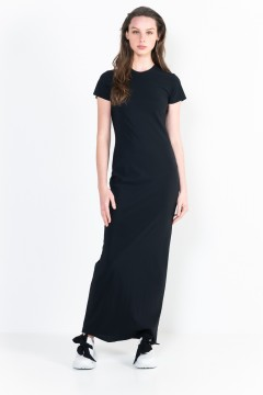L8 Bis Long Dress Crew Neck, Short Sleeves.