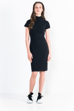L10 Bis Turtleneck Short Dress Short Sleeves