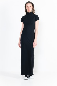 L10 Ter Turtleneck Long Dress Short Sleeves