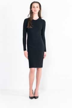 L11 Bis crew neck short dress with long sleeves