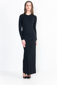 L11 Ter crew neck long dress with long sleeves