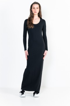 L12 Ter Long sleeve long dress with scoop front