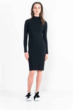 L13 Bis Long-Sleeve short dress with turtle neck