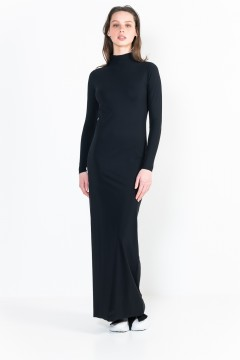 L13 Ter Long-Sleeve long dress with turtle neck
