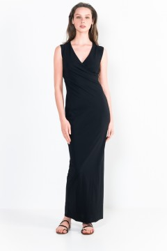 L29 Ter Sleeveless wrap long Dress
