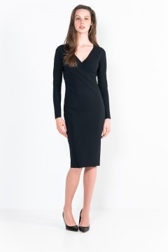 L30 Long-sleeve wrap short dress