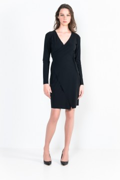 L32 Bis short-length wrap dress
