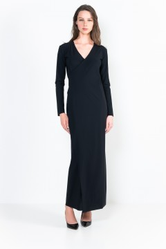 L32 Ter Long-length wrap dress