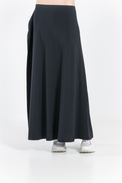 L80 Long bias skirt with side flounce